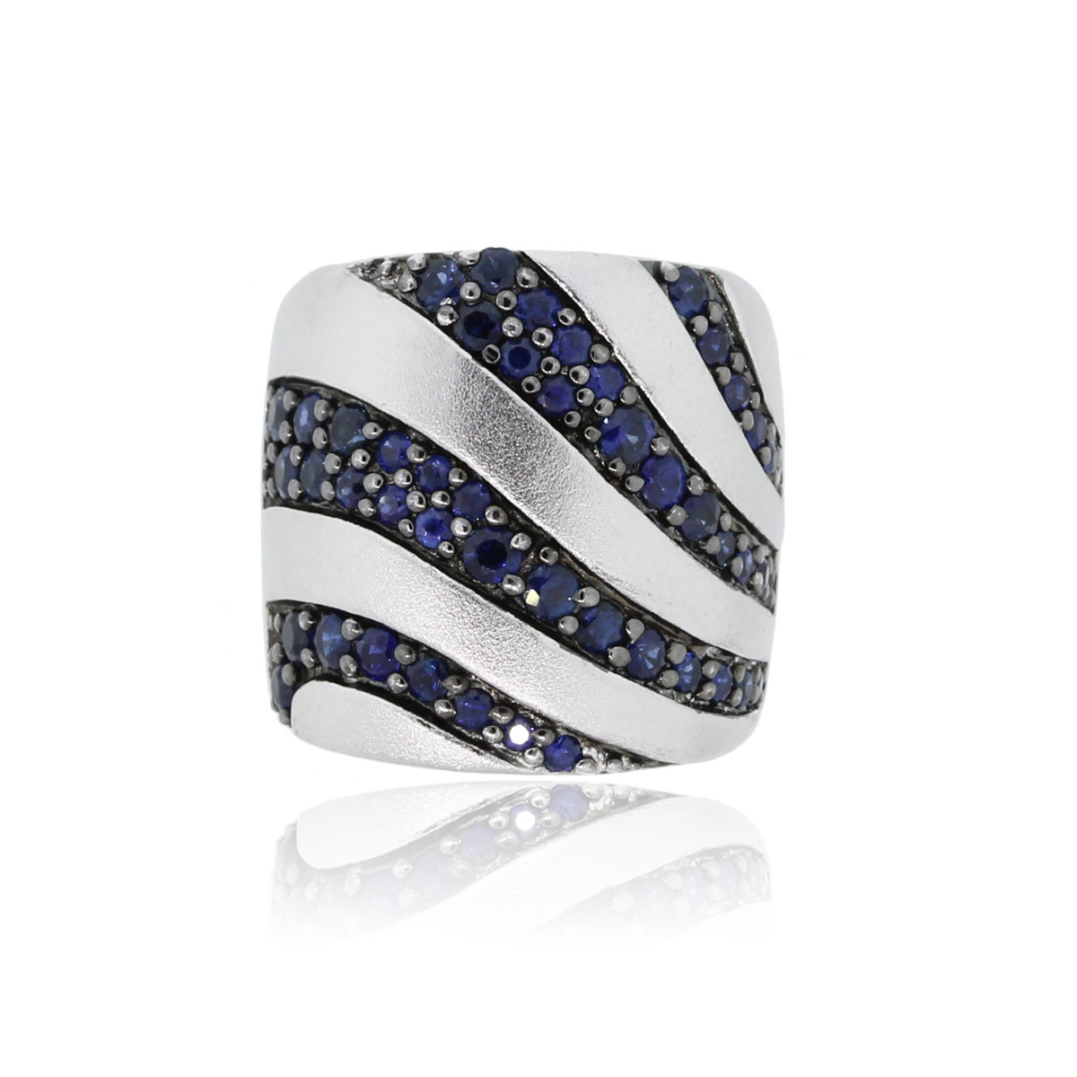 You are viewing this Effy Sterling Silver Blue Sapphire Band Ring!