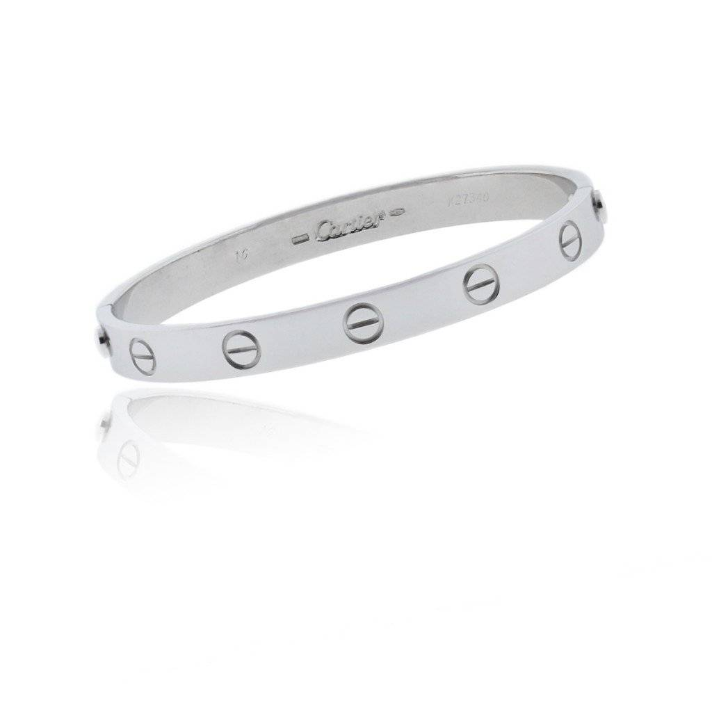 Pre owned white gold Love Bangle