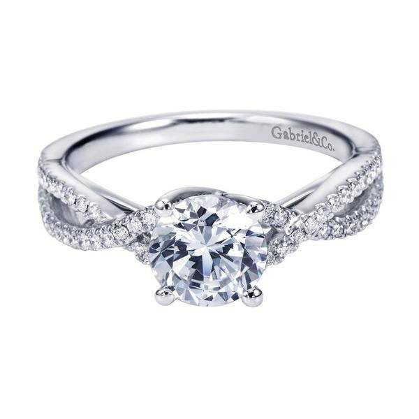 Gabriel and Co designer engagment ring under 4000