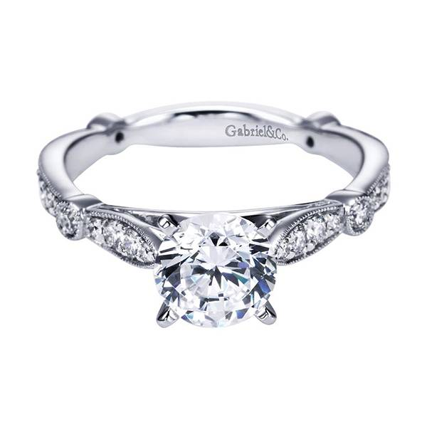 Gabriel and Co. Victorian Style Engagement Ring under 4000