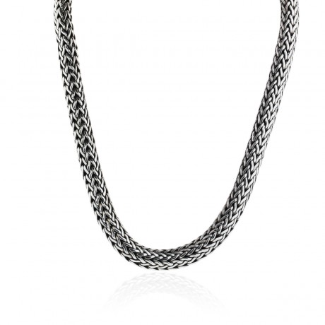 John Hardy Sterling Silver & 18K Gold Large Woven Chain Necklace