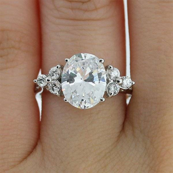 Oval engagement ring under 6000