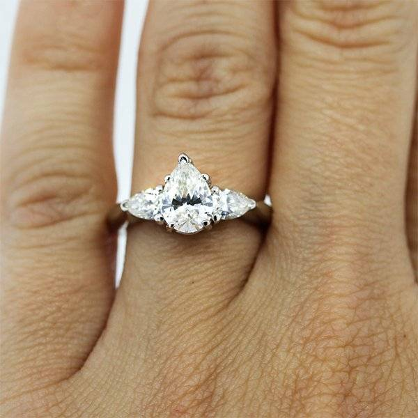 Pear Shaped Engagement Ring under 6000