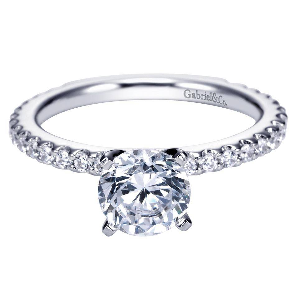 Gabriel & Co Engagement Rings Diamond Band Solitaire Rings