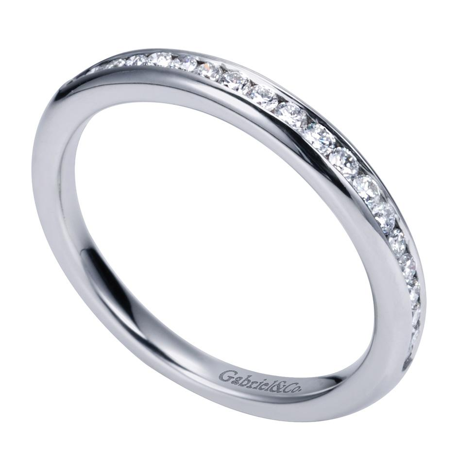 gabriel co engagement rings 14k white gold channel set band