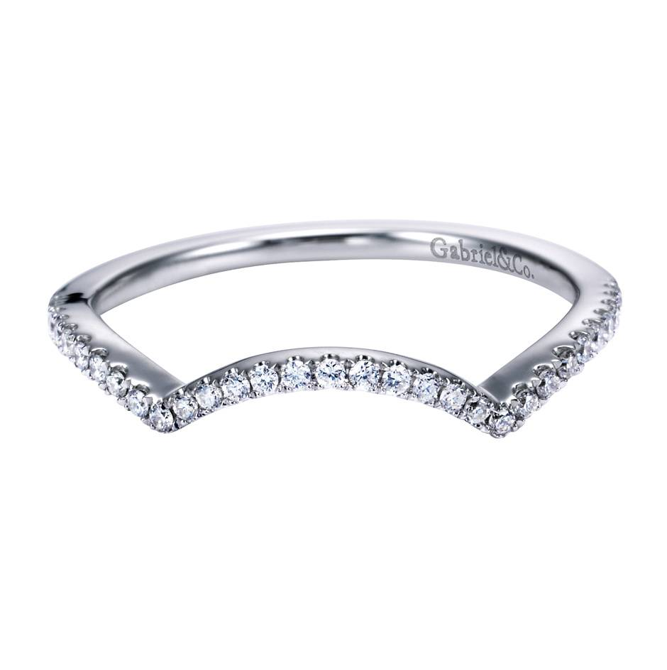 Gabriel Co Engagement Rings Contemporary Curved Wedding Band