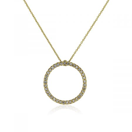roberto Coin Circle of Life 18k Gold and Diamond Pendant Necklace!