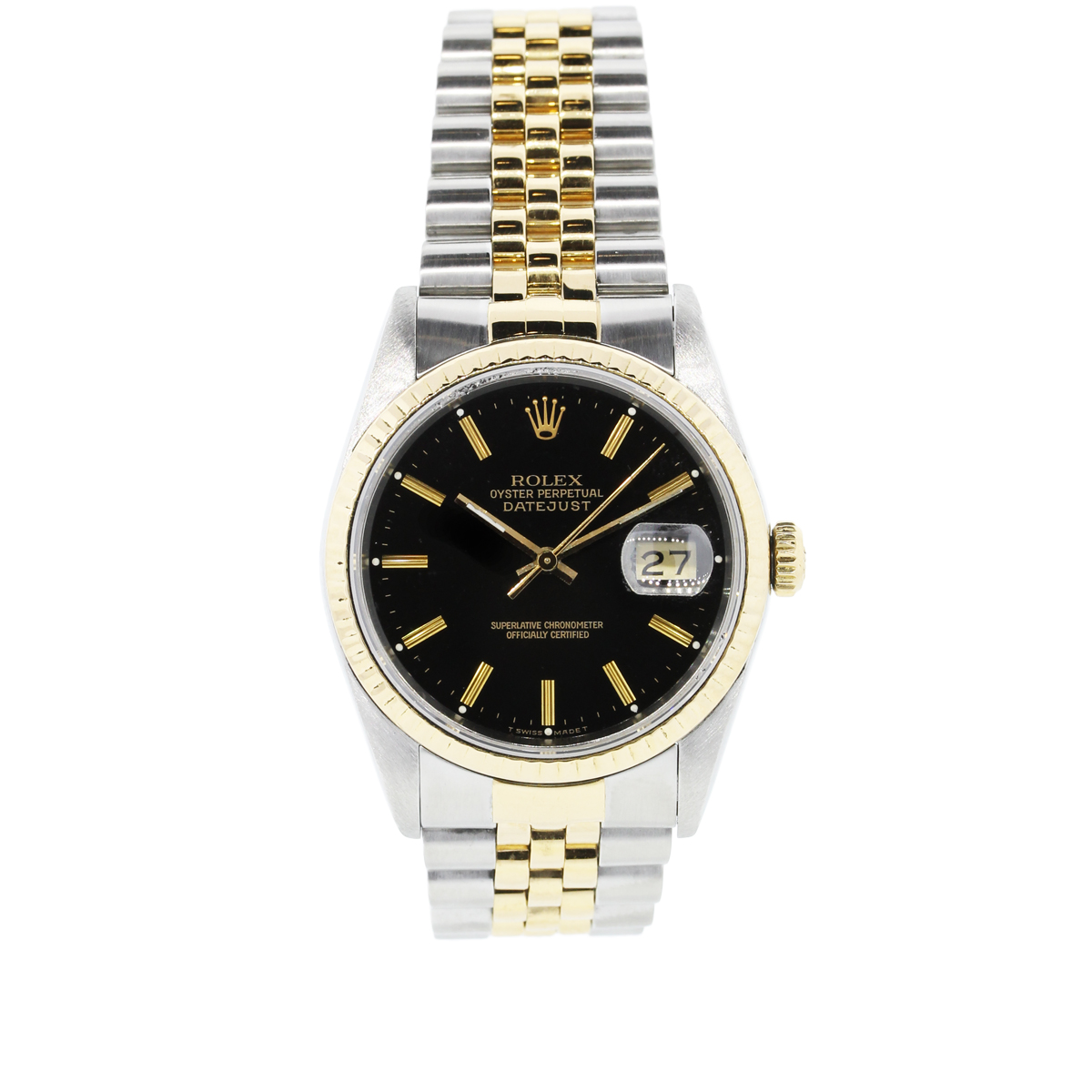 Rolex datejust 16233 two tone 18k stainless steel jubilee watch for Jubilee watch