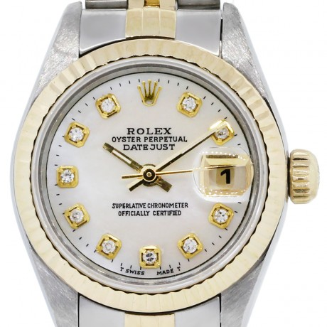Rolex Datejust 6917 Two Tone Mother of Pearl Dial Jubile Watch