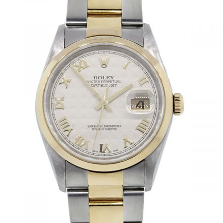 You are viewing this Rolex Datejust 16203 Pyramid Dial Oyster Band Watch!
