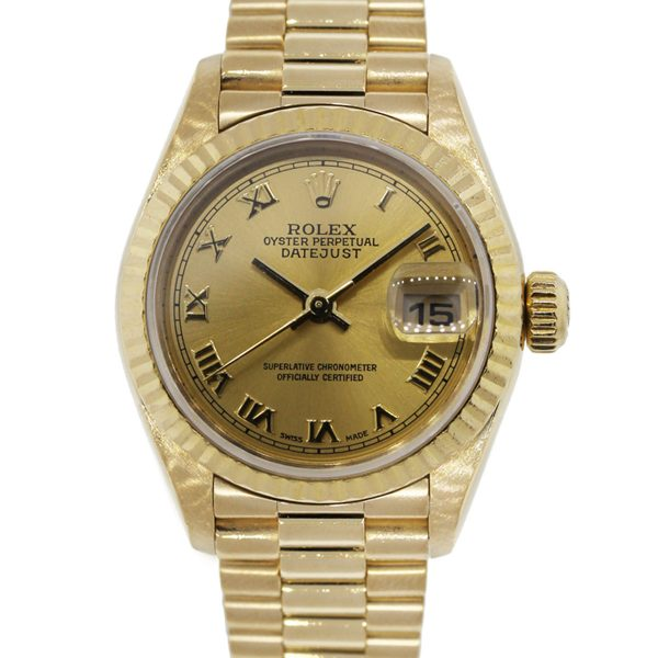 You are viewing this Rolex 79178 Presidental Datejust 18k Yellow Gold Ladies Watch!