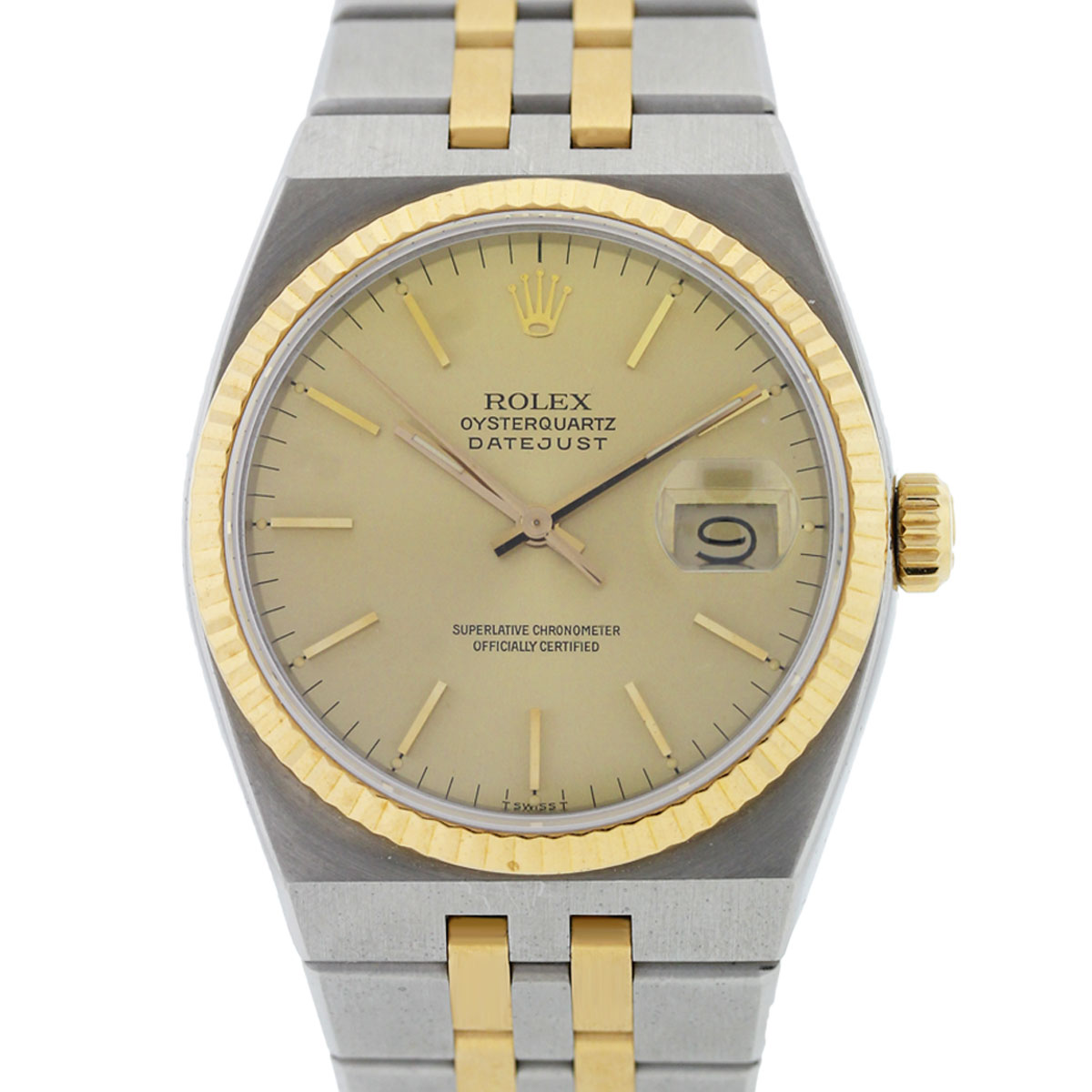 You are viewing this Rolex 17013 Two Tone Oysterquartz Datejust Watch!