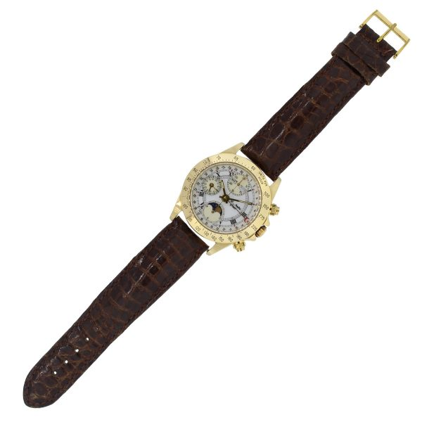 St Andre Graal Day Date Moon Phase 18k Yellow Gold Watch