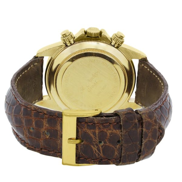 St Andre Graal 18k Yellow Gold on Leather Watch