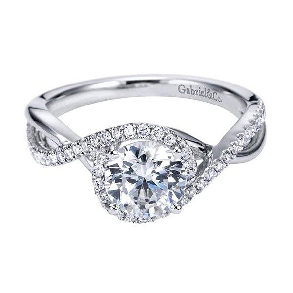 Twisted halo engagement ring under 4000