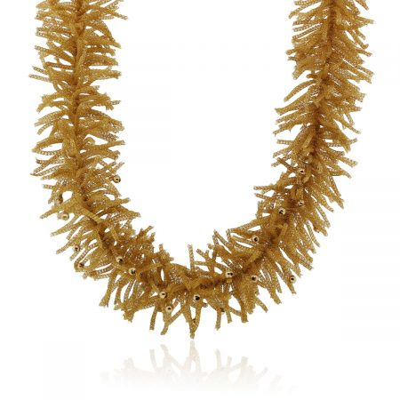 You are viewing this 14k Yellow Gold Woven Necklace!