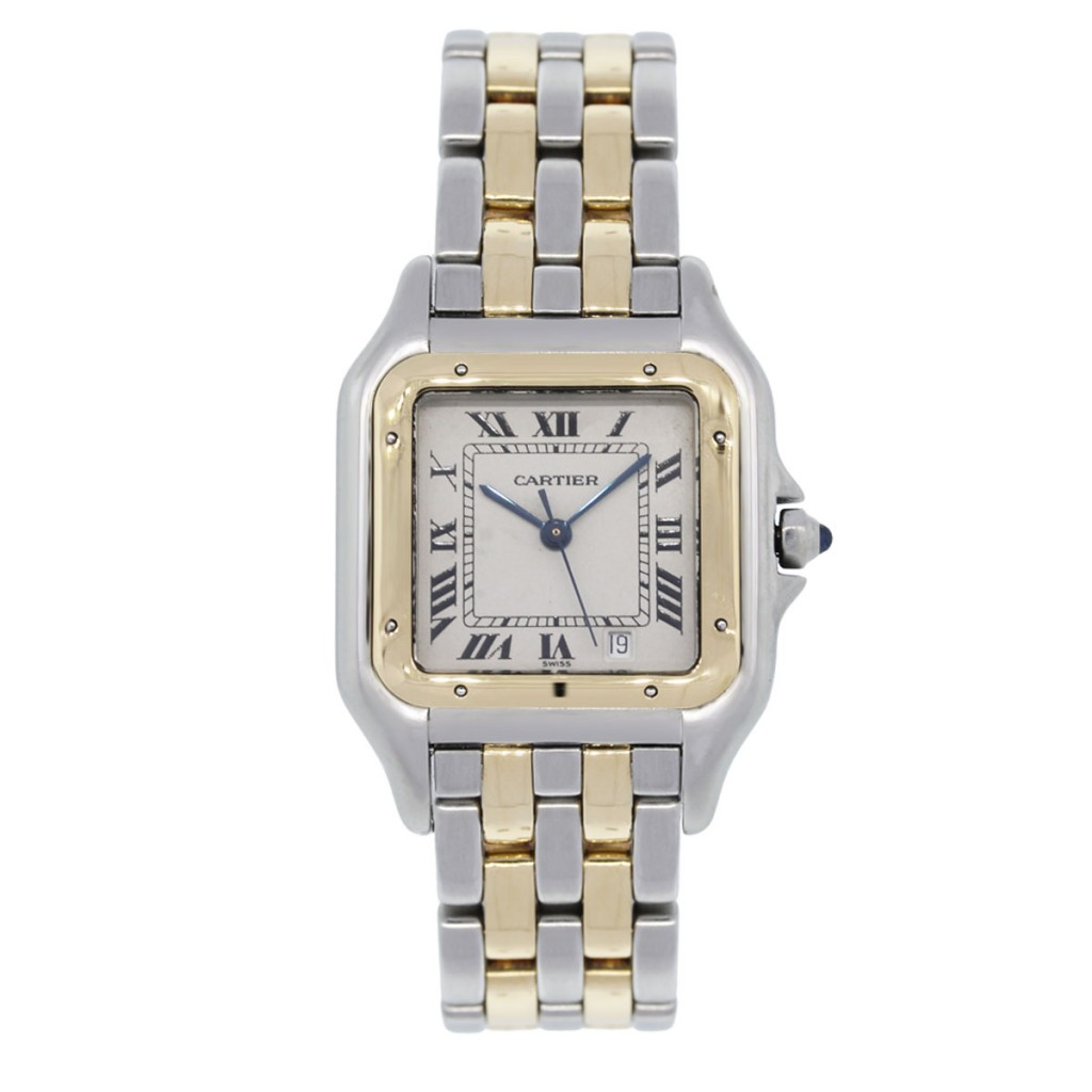 cartier panthere 1100 two tone white mens