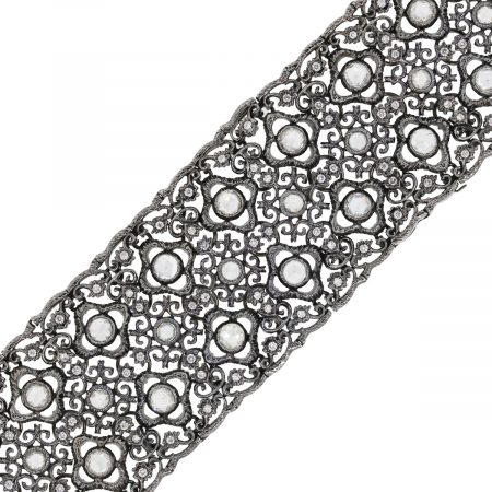 You are viewing this 18k White Gold 10ctw Rose Cut Diamond Vintage Bracelet!