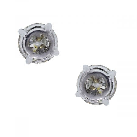 You are viewing these 18k White Gold GIA Round Brilliant Diamond Stud Earrings!
