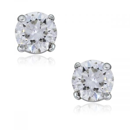You are viewing these 18K White Gold 1.03ctw Round Brilliant Diamond Stud Earrings!