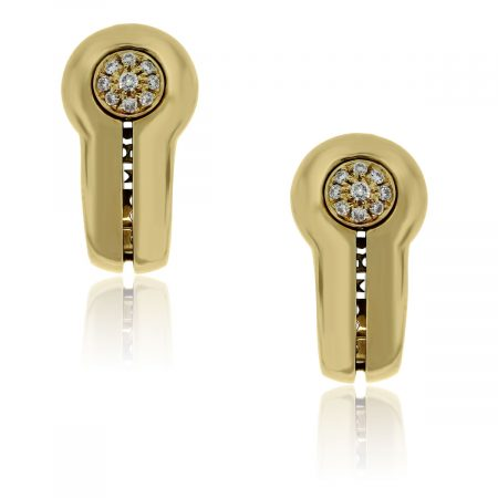 You are viewing these Di Modolo 18k Yellow Gold Diamond Cluster Earrings!