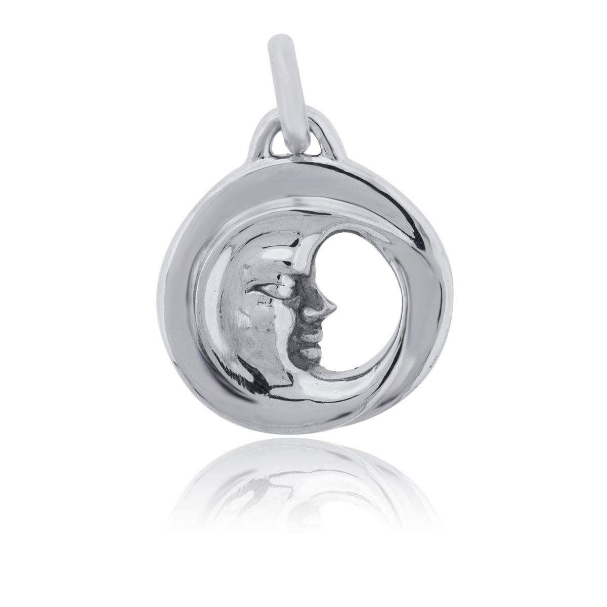 You are viewing this Kieselstein Sterling Silver Moon Slide Pendant!