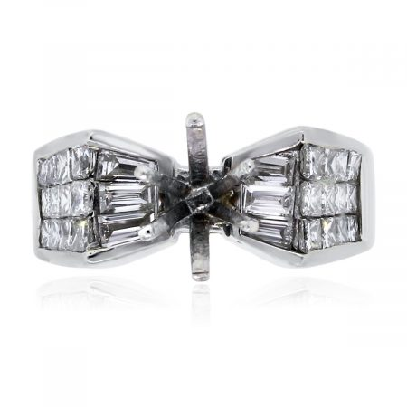 You are viewing this 18k White Gold 1.25ctw Marquise and Princess Cut Diamond Mounting!