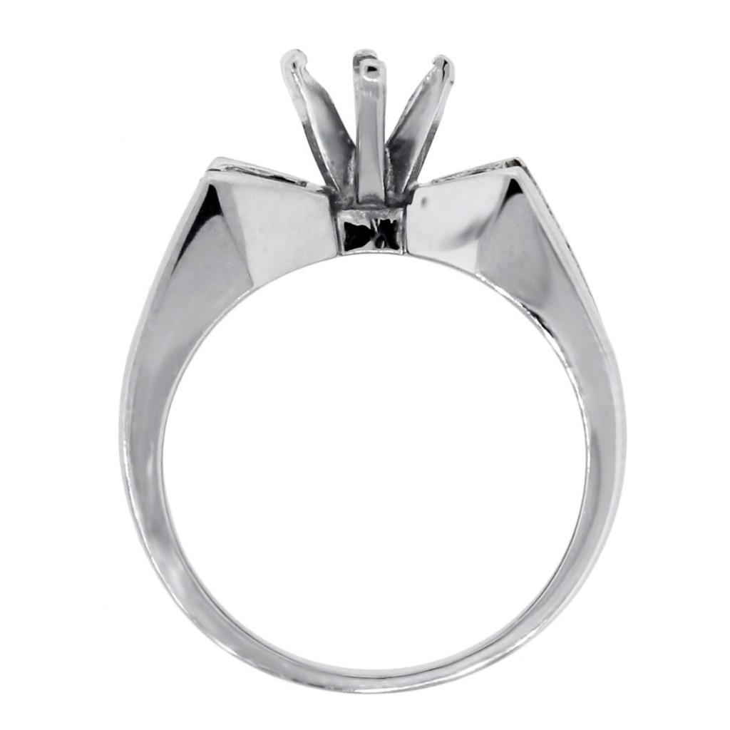 18k white gold 1 25ctw baguette princess cut