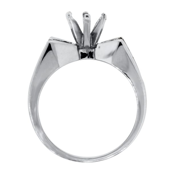 White Gold 1.25ctw Marquise and Princess Cut Diamond Mounting