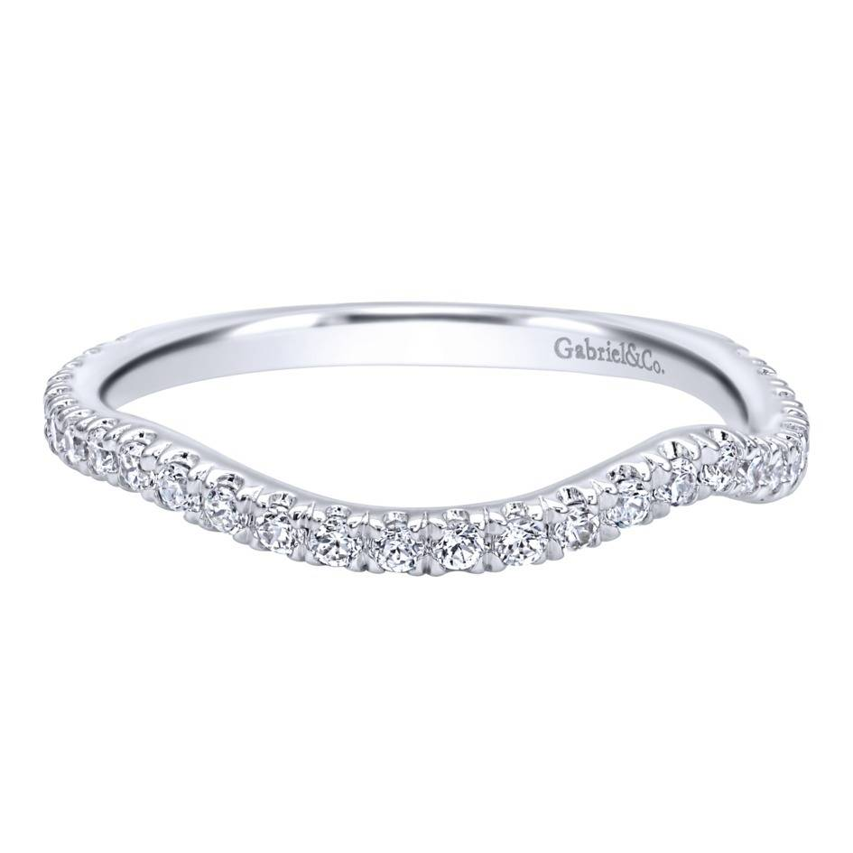 gabriel co engagement rings 14k white gold diamond curved band