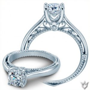Verragio White Gold Engagement Ring Venetian Collection