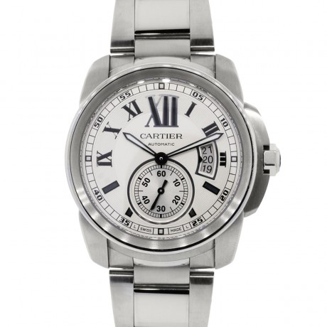 Cartier Calibre Stainless Steel Chronograph Watch