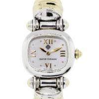David Yurman 18K Two Tone Mother of Pearl Cable Watch