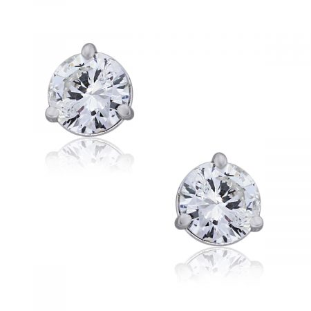 You are viewing these 14k White Gold 1.44ct Round Diamond Stud Earrings!