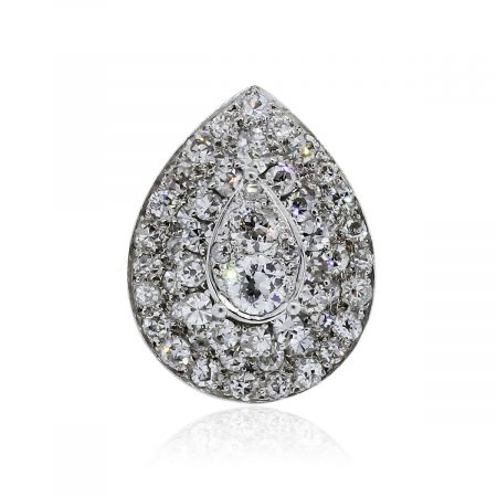 You are viewing this Platinum 2.85ctw Pear Shape Cluster Diamond Ring-dant!