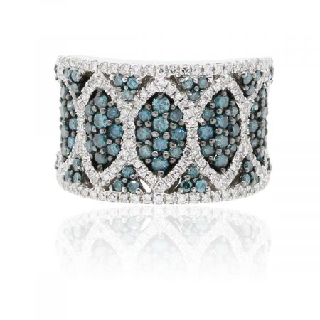 You are viewing this Effy 14k White Gold Irradiated Blue Diamond Ring!