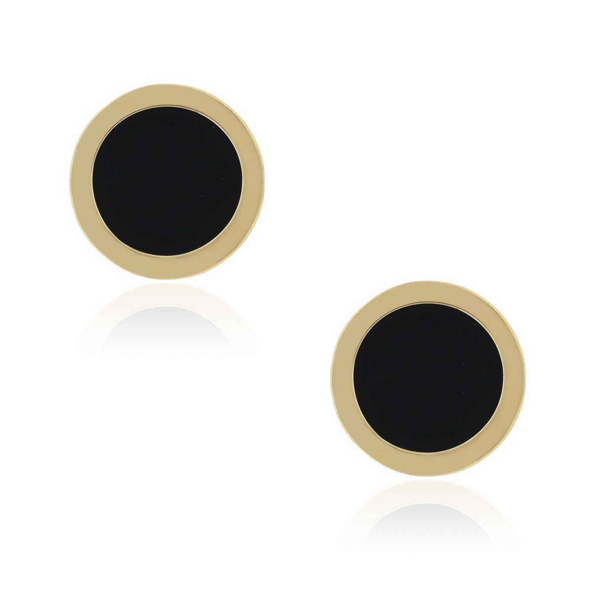 You are viewing these 14k Yellow Gold 21mm Black Onyx Cufflinks!