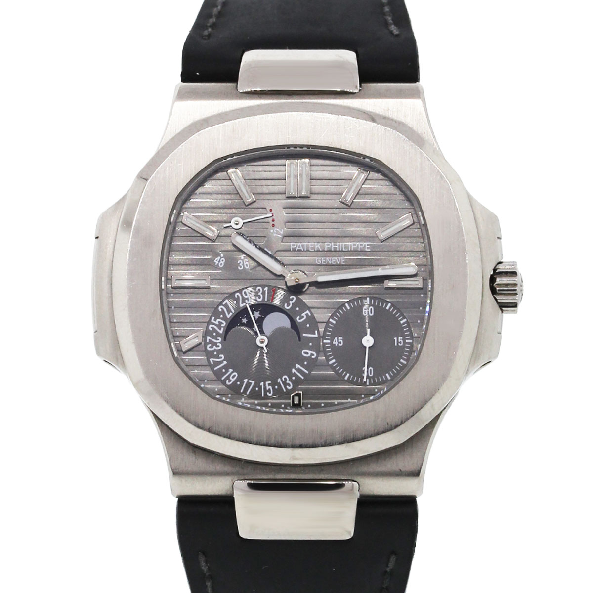 You are viewing this Patek Philippe 5712G Nautilus White Gold on Leather Watch!