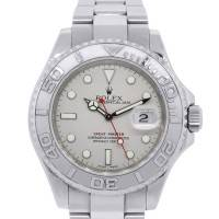 Rolex 16622 Yachtmaster Platinum Bezel Steel Watch