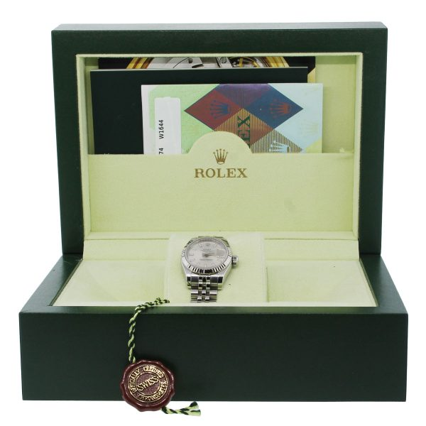 Rolex 179174 Datejust Stainless Steel Ladies Watch box and papers