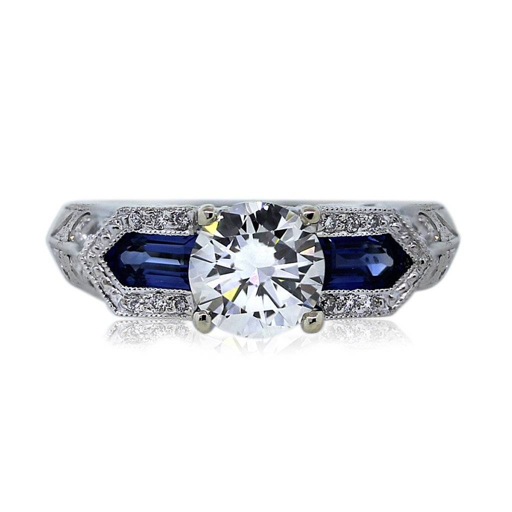 Verragio CL-DL-129P Sapphire and Diamond Engagement Ring Mounting