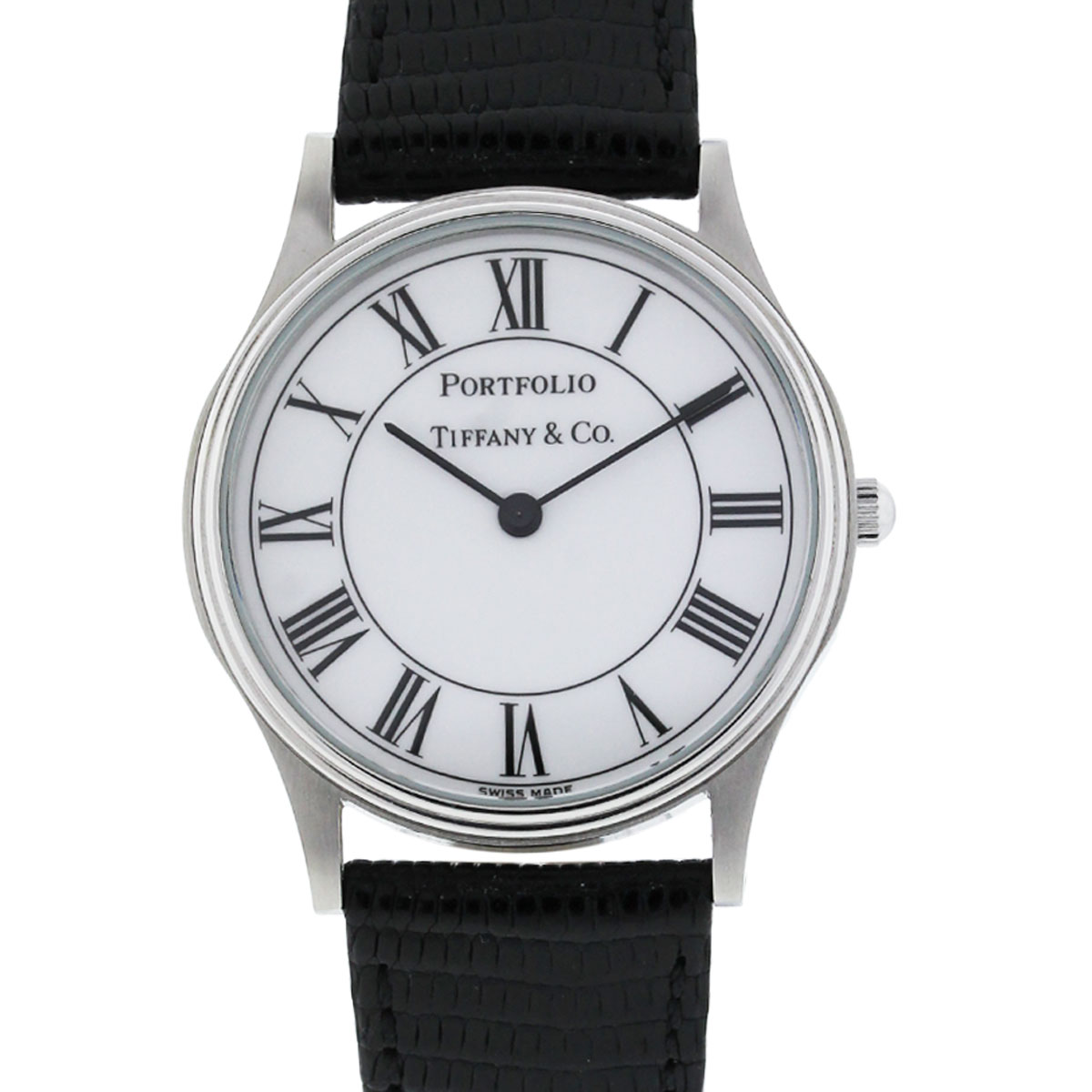 You are viewing this Tiffany & Co. Portfolio White Roman Dial Mens Watch!