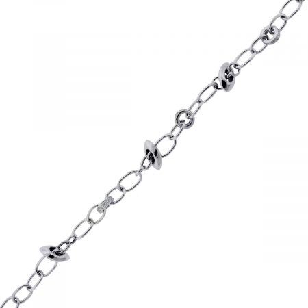 You are viewing this 18k White Gold .80ctw Diamond Charm Bracelet!