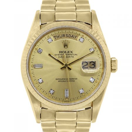 You are viewing this Rolex 18038 Day-Date 18k Yellow Gold Watch!