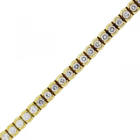You are viewing this 18k Yellow Gold 7ctw Diamond Tennis Bracelet!