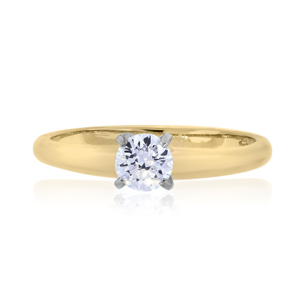 You are viewing this 0.31CT GIA Certified Round Diamond Engagement Ring!