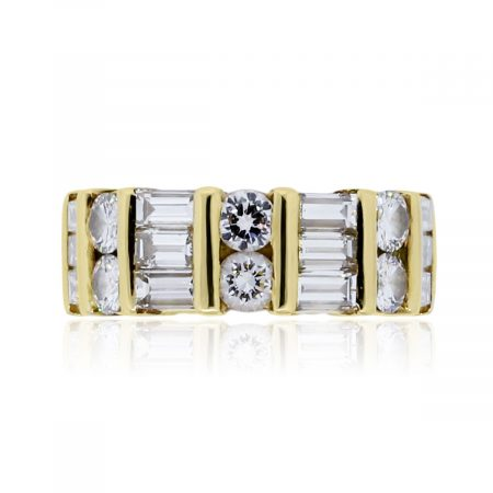 You are viewing this 18k Yellow Gold 5.4ctw Diamond Eternity Band Ring!
