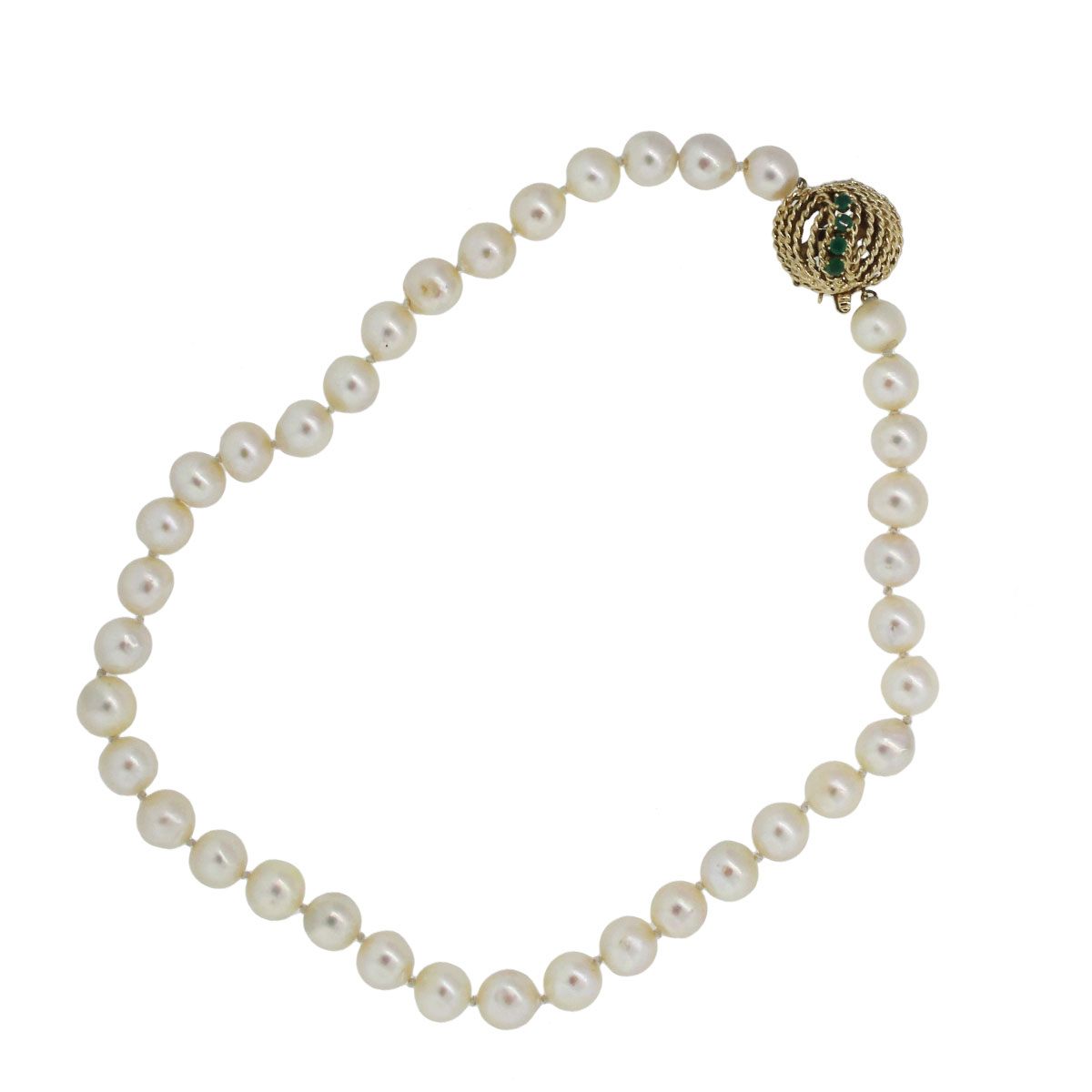 14k Yellow Gold 9mm Cultured Pearl Necklace