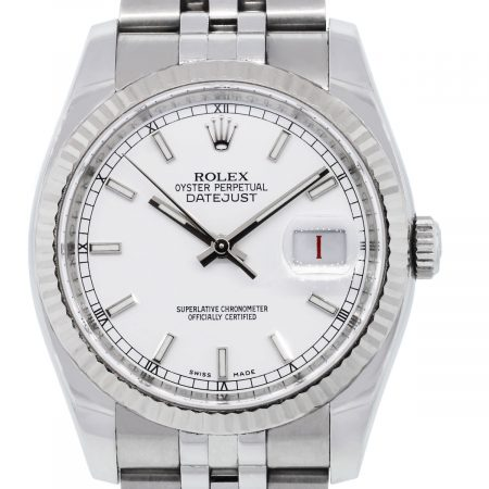You are viewing this Rolex 16234 Datejust White Dial Stainless Steel Watch!