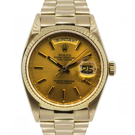 You are viewing this Rolex 18038 Day Date 18k Yellow Gold Watch!